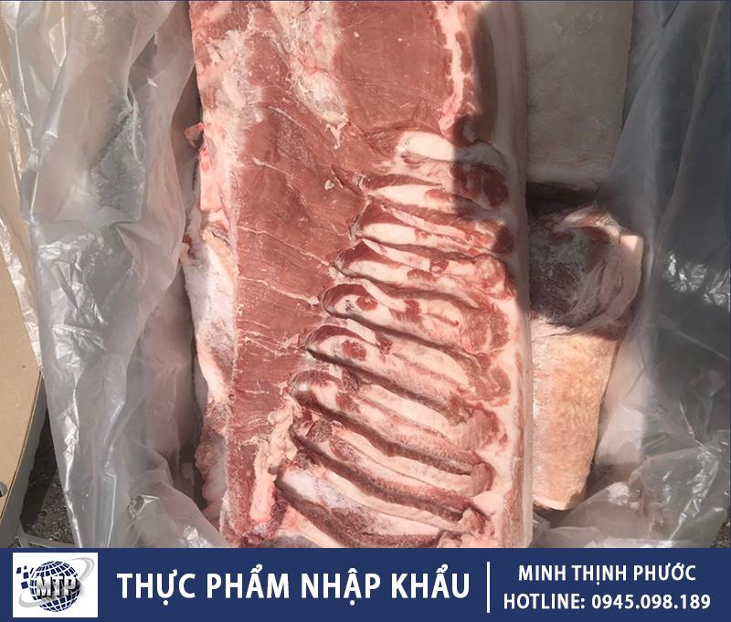 Thịt Ba Rọi Heo Nhập Khẩu